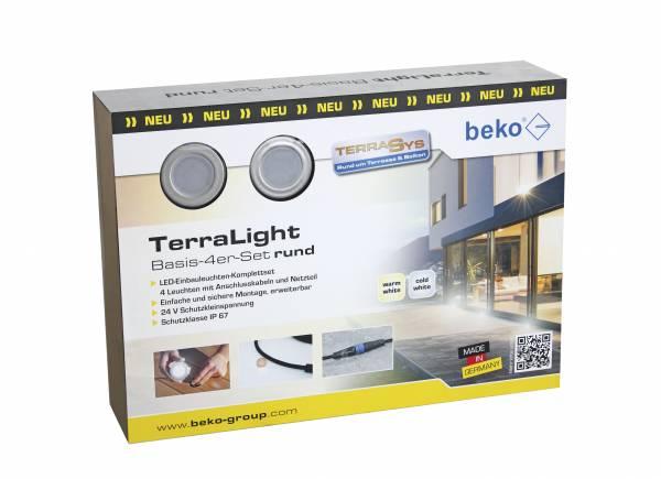 TerraLight Basis 4er-Set - LED-Spots Terrassenbeleuchtung
