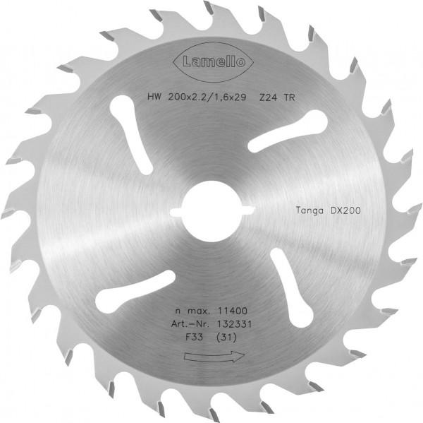 Sägeblatt HW zu DX200 ø 200 mm Zähne 24 für Schnitte in Holzrahmen für Tanga DX200