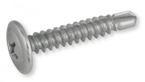 Bohrschraube verzinkt mit angepresster Scheibe 4,2 x 16 mm, PH 2, 100 Stück