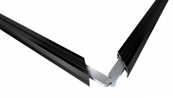 Variabler Eckverbinder für Isostep-Schienen