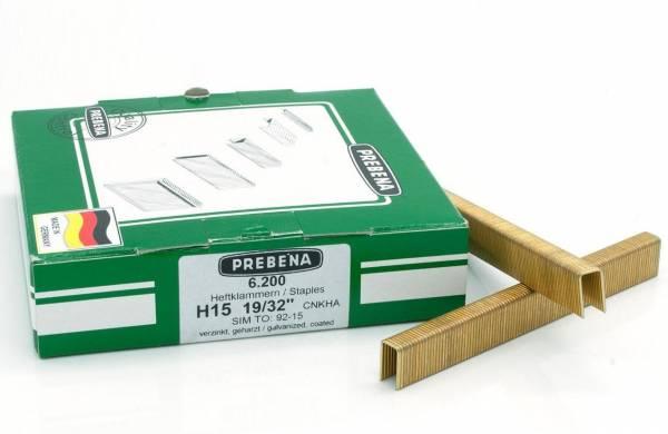 Prebena Heftklammern Type H verzinkt geharzt 15 - 40 mm