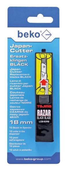 beko Japan-Cutter Ersatzklingen black - 10 Stück im Spender