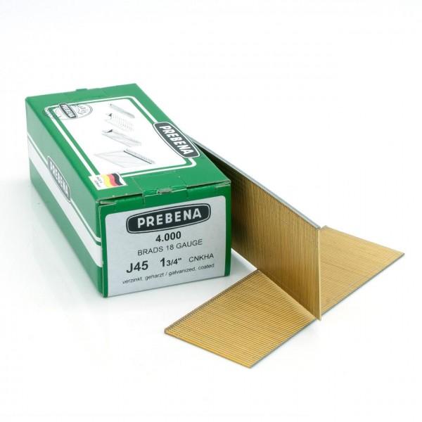 J45CNKHA Stauchkopfnägel (Brads) verzinkt geharzt