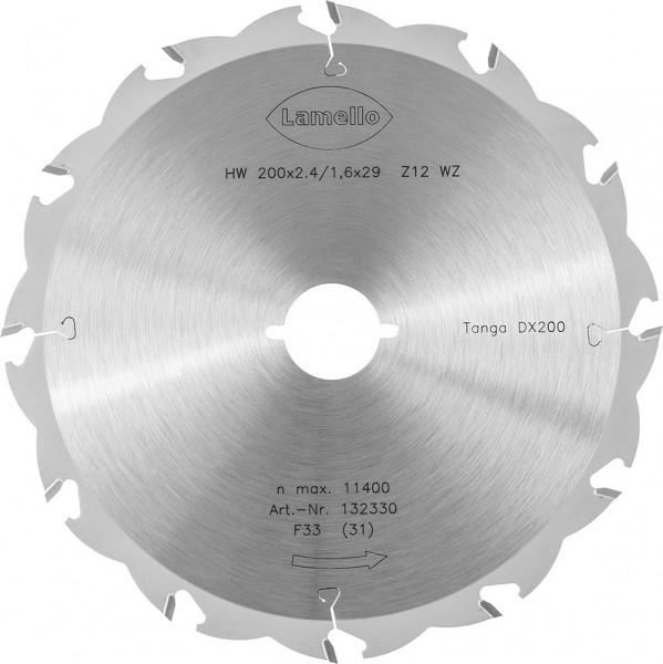 Sägeblatt, Z12, ø 200 mm für eine Schnitttiefe bis 70 mm